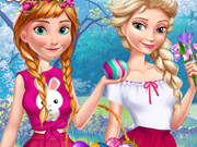 Play Anna And Elsa Easter Fun