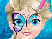 Play Baby Elsa Butterfly Face Art