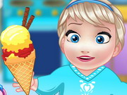Play Baby Elsa Cooking Homemade Icecream