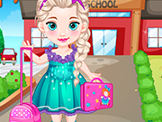 Play Baby Elsa Goes To School