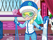 Play Baby Elsa Skiing Trip