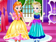 Play Baby Elsa With Anna Dress Up