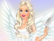 Play Barbie Angel Dressup