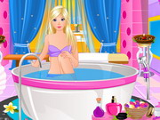 Play Barbie At Spa Salon