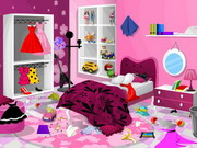 Play Barbie Bedroom Clean