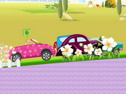Play Barbie Car Racing