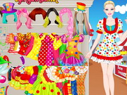 Play Barbie Clown Princess Dressup