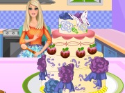 Play Barbie Cooking Cake