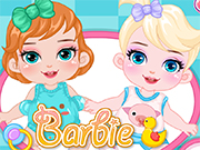 Play Barbie Disney Babysitter