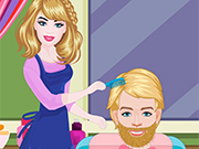 Play Barbie Hairdresser With Ken