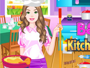 Play Barbie Kitchen Cleanup