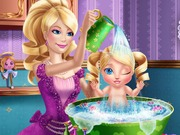 Play Barbie Princess Baby Wash