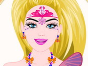 Play Barbie Princess Face Painting