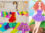 Play Barbie's Unicorn Dress Up