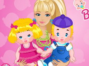 Play Barbie Twins Babysitter