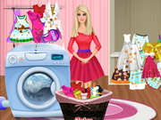Play Barbie Washing Clothes