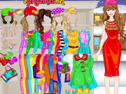 Play Barbie Winter Shopping Dress Up