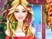 Play Barbie Xmas Real Haircuts