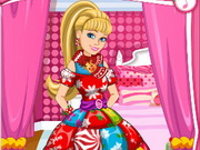 Play Barbies Christmas Patchwork Dress