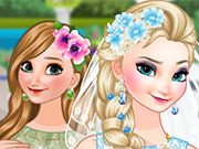 Play Bride Elsa and Bridesmaid Anna