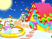 Play Christmas House Decorating