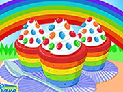 Play Cooking Rainbow Cupcakes