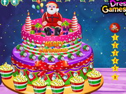 Play Creamy Christmas Cake Decor
