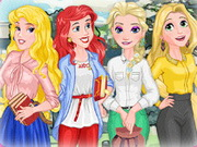 Play Disney Princess Go To School