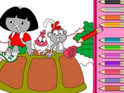 Play Dora And Nature Coloring