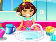 Play Dora Baby Caring