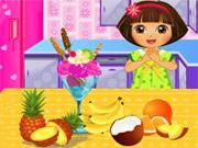 Play Dora Blueberry Ice Cream