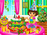 Play Dora Christmas Cake