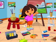 Play Dora Drawing Room Cleaning