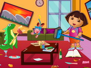 Play Dora Living Room Cleaning