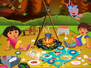 Play Dora's Forest Camp Cleaning