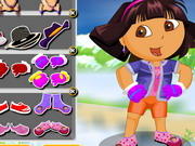 Play Dora The Winter Explorer Dressup
