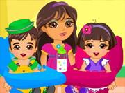 Play Dora Twins Babysitter
