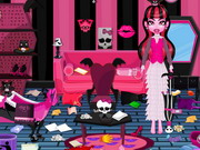 Play Draculaura Messy Room Cleaning