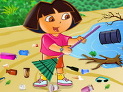 Play Ecofreak Dora Cleaning Beach