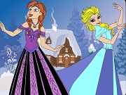 Play Elsa and Anna Coloring