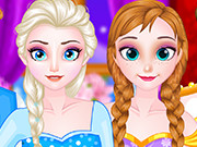 Play Elsa And Anna Double Date