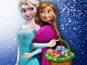 Play Elsa and Anna Eggs Painting