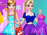 Play Elsa and Anna Fashion Rivals