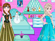 Play Elsa And Anna Room Decoration
