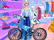 Play Elsa And Olaf Bike Decor