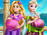 Play Elsa and Rapunzel Pregnant BFFs