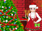 Play Elsa Christmas House Prep
