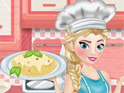 Play Elsa cooking Spaghetti