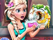 Play Elsa Dish Washing Realife