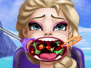 Play Elsa Throat Doctor